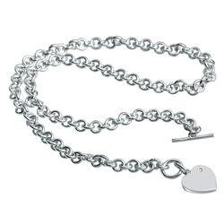 Zilver ketting met hart loveocked dn001 Hot Diamonds
