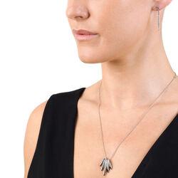 lange oorbellen met diamantje Hot Diamonds Icicle Single Drop de395