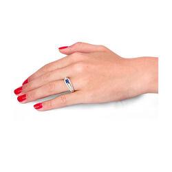 witgouden ring saffier en 40 briljanten