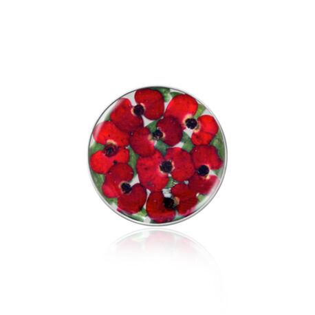 MY iMenso flora insignia 33 mm met rode mini bloemetjes