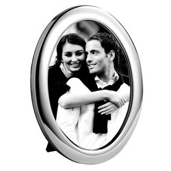 Ovale zilveren fotolijst 18x13 cm Carrs