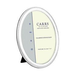 Grote ovale zilveren fotolijst Carrs BNO4