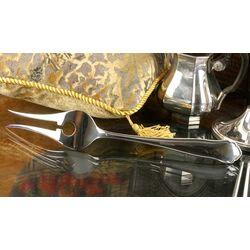 Zilveren vleesvork model chippendale