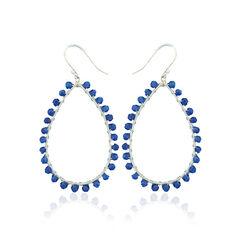 Zilveren Oorhangers Blauw Agaat
