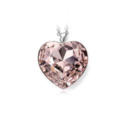 Zilver harthanger roze zirkonia Elements