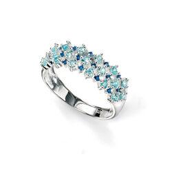 Elements Ring Donker En Licht Blauw