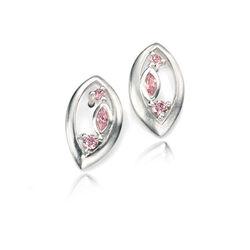 Elements oorstekers roze zirkonia