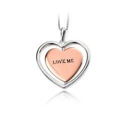 Zilveren Hart Hanger Elements Love Me Love Me Not