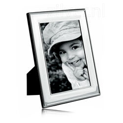 Fotolijst zilveren montuur parelrand 13 x 18 cm