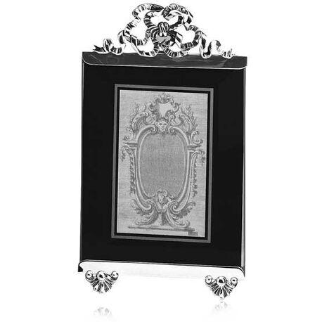 Zilveren fotolijst met strik van Raspini 9x11