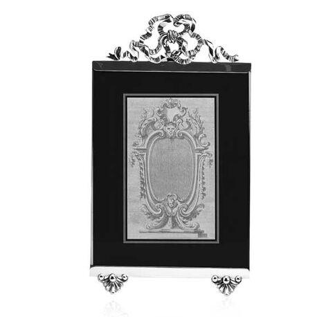 Zilveren fotolijst met geslepen glas van Raspini