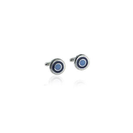 Carrs Manchetknopen Blauw Emaille Cuff004