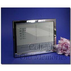 Zilveren fotolijst glad montuur 13x18 Carrs fnpr4/w
