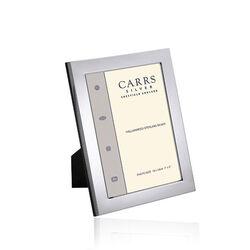 Carrs zilveren fotolijst glad brede montuur