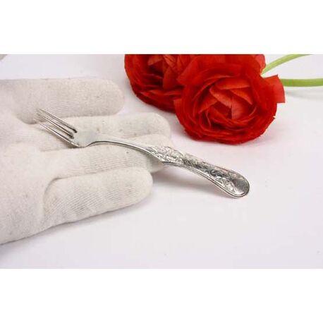 Zilveren confiture vorkje