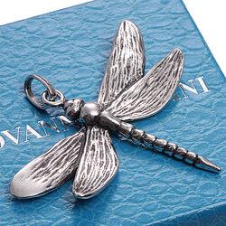 zilveren libelle hanger van Raspini