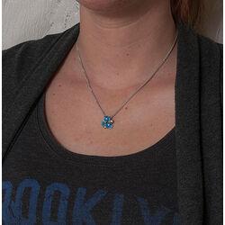 Gl Collier Hanger Blauw Emaille
