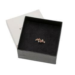 Gl Collectie Ring Bloemen Bruin Emaille
