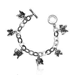 Giovanni Raspini zilveren bedelarmband met 6 bedels vlinder