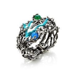 Zilveren armband reef met agaat en turkoois