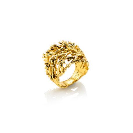 Verguld zilveren ring Super Coral van Giovanni Raspini