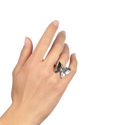 zilveren ring met een vlinder van Giovanni Raspini bij Zilver.nl