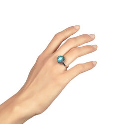 Raspini Ring Zeester Blauw Zirkonia