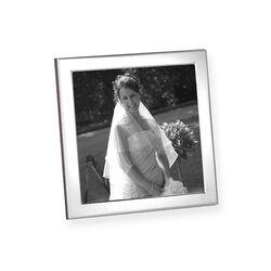 vierkant zilveren fotolijstje glad montuur