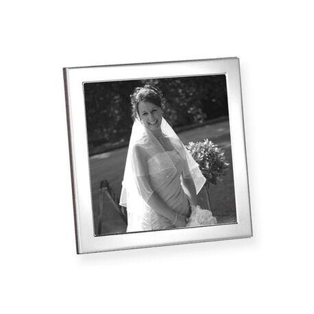 vierkant zilveren fotolijstje glad montuur fnpsq3/w