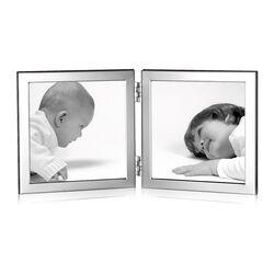 Dubbele fotolijst 10x10 Carrs zilver