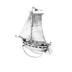 Miniatuur zilveren zeilboot