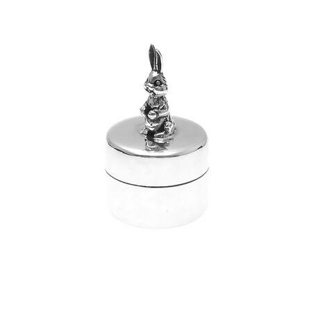 Zilveren tandendoosje konijn graveerbaar