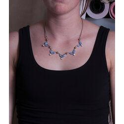 Zilveren ketting met blauw swarovksi crystals Zinzi