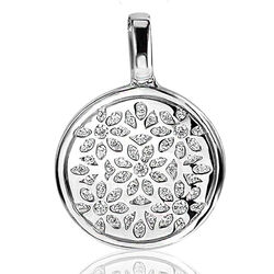 Zilver hanger munt bloemmotief zih1084 zinzi