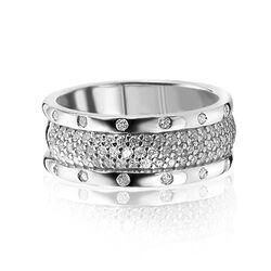 Zinzi Ring Breed Met Zirkonia Zir1173
