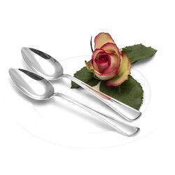 Twee Zilveren Dessertlepels Rondfilet