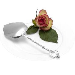 Zilveren Taartschep Gestileerd Blad