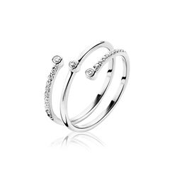 Zinzi 3 Bands Ring Zirkonia Zir1195