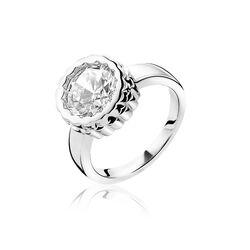 Opvallende Zinzi Ring Grote Zirkonia Zir1182