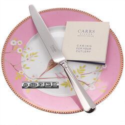 Dessertmes zilveren heft Rattail 22 cm Carrs
