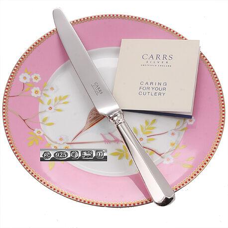 Zilveren dessertmes Carrs model Rattail