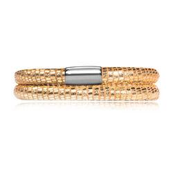 Dubbel leren armband gouden slang Endless J-Lo