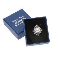 Zilveren ring parel en markasiet