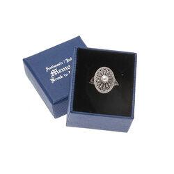 Zilveren Ring Markasiet Parel