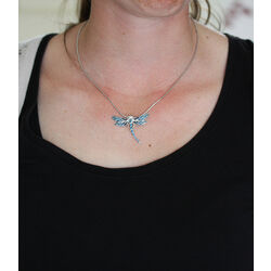 zilver collier met hanger libelle Nicole Barr
