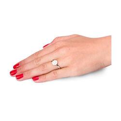 Witgouden rozet ring met markies slijpsel en briljant geslepen diamant