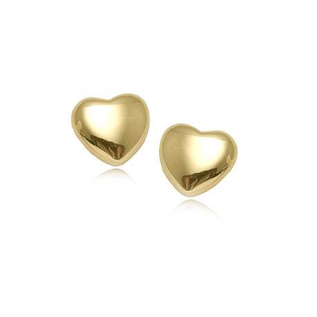 Gouden oorbellen hart