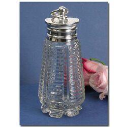 Kristallen theebus zilveren dop