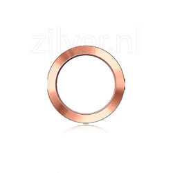 Bezel glad roséverguld staal MY iMenso 123-13