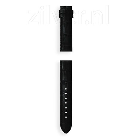 My Imenso Leren Horloge Band Zwart